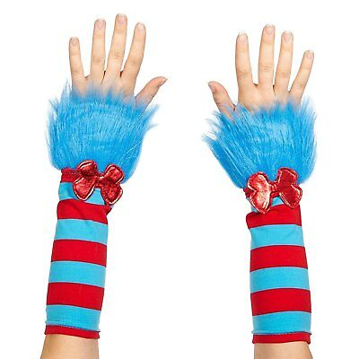 Dr. Seuss Thing 1 & 2 Fuzzy Costume Glovettes Adult One Size