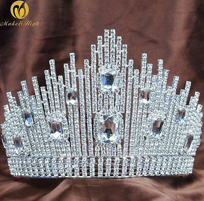 Gorgeous Pageant Tiara Wedding Bridal Crown Rhinestones Costumes Party Jewelry