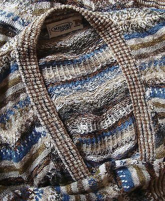 SWEATER cardigan vintage 80's MISSONI SPORT TG.52 veste XL-2XL made Italy RARE