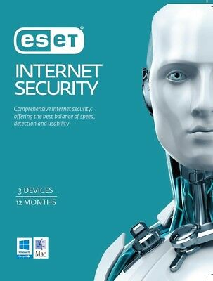 ESET Internet Security Antivirus 2017 3 User devices 1 Y PC Windows 10 / 8 /7