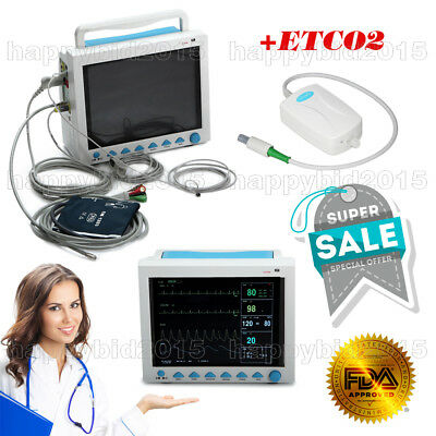 ICU/CCU Patient Monitor 12.1 Inch Vital Signs Monitor 6-Parameters WITH ETCO2