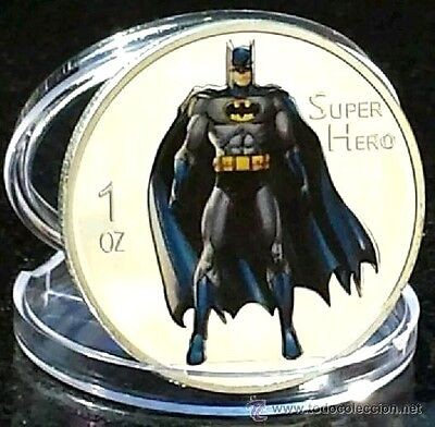 1 oz Batman Super Heroes Finished in 18k White Gold Coin/Medallion