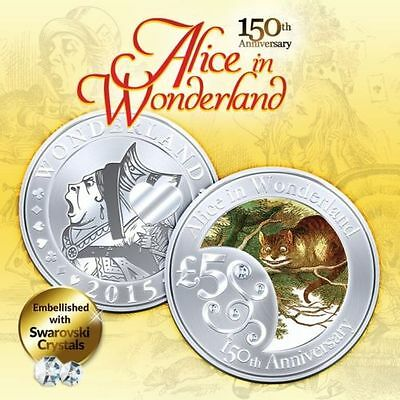 150th Anniv Alice In Wonderland CHESIRE CAT Finished in 18k White Gold Coin