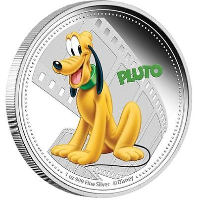 1 oz Mickey Mouse & Friends – PLuto Finished in 18k White Gold Coin/Medallion