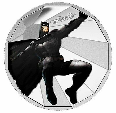 Canadian Batman Finished in 18k White Gold coin/Medallion