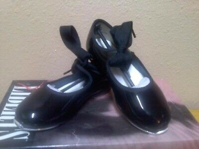 Tap Shoes ~ Little Girls Size 6.5 ~ Black Patent NEW
