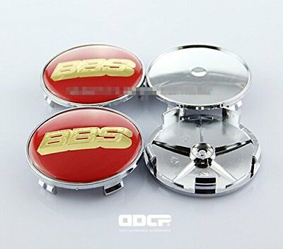 Set Of 4 pcs 68mm Wheel Center Caps Hubcaps With BBS
