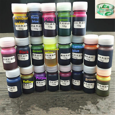 12 Colors 10g/pc Epoxy UV Resin Dye Colorant Resin Pigment Mix Color DIY Craft
