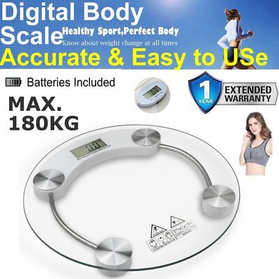 400Lb Digital Electronic Lcd Bathroom Weighing Scale Glass Weight Scales Lbs Kg
