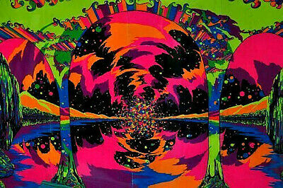 70's Psychedelic Trippy Peace Hippie Sticker or Magnet