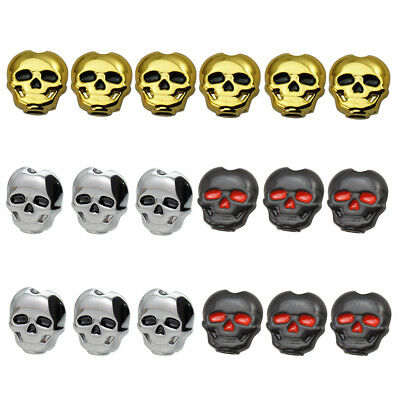 6PCs Guitar Tuning Peg Skull Shape Button Machine Head Replacement
