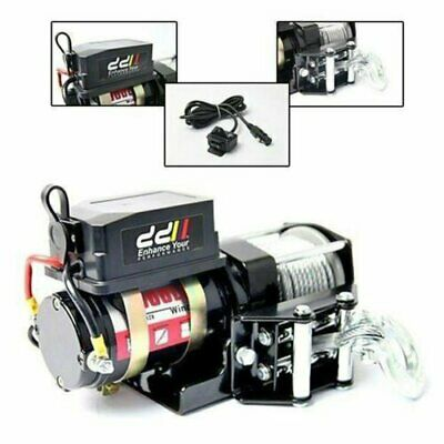 New Electric Winch Steel Cable 12V 3000Lbs 1360Kg 4X4 4Wd Truck Boat Atv