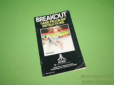 Atari 2600 VCS Instruction Manual - Breakout *No Game*