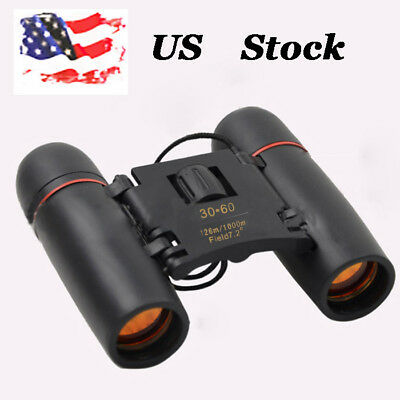 US 30x60 Zoom  Binoculars Folding Telescope Day Night Vision  Outdoors Sports