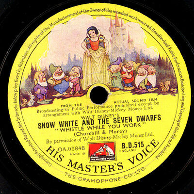 """SNOW WHITE & THE SEVEN DWARFS"" Walt Disney Film; Whistle while you work  S2566"