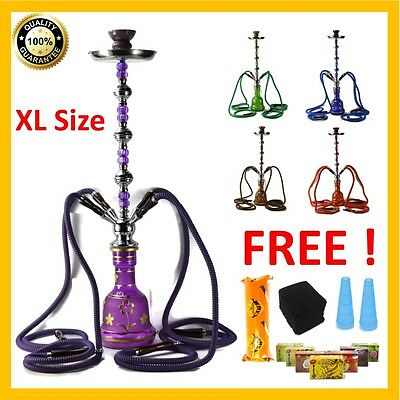 30  TALL LARGE 4 Hose Shisha Hookah Four Pipe al Glass fakher BIG Hooka Flavour  sc 1 st  PicClick : big hookah pipes - www.happyfamilyinstitute.com