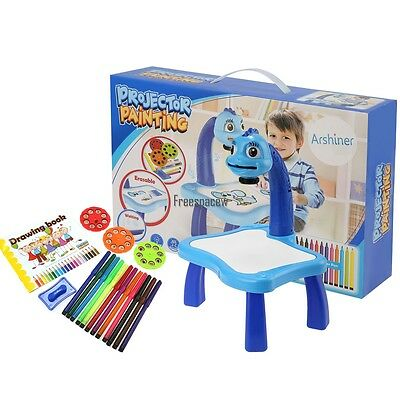 Kids Children Painting Activity Drawing Table Art Desk Toy Set Play Fun  Learning