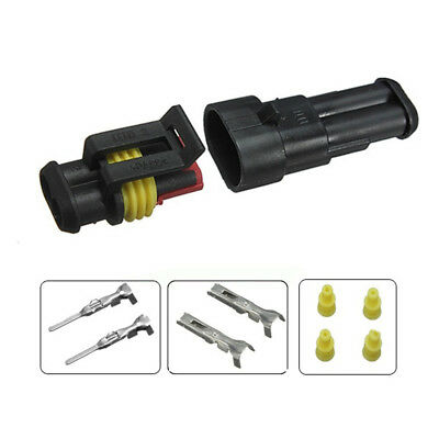 Waterproof 2 Pin Ways Electric Female Male Automotive Wire Connector Plug Set