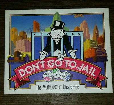 Don't Go To Jail Monopoly Board Game Complete