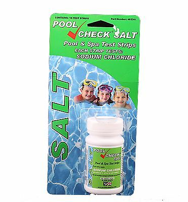 Pool Check Salt Water Test Strips  for Spas and Pools 482341