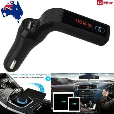 G7  Wireless LCD Bluetooth Car MP3 FM Audio Transmitter USB Charge Handsfree