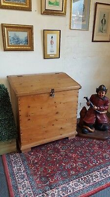 antique solid pine all dovetail join corn bin