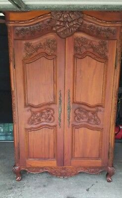 solid wood french wardrobe hand carved beautiful