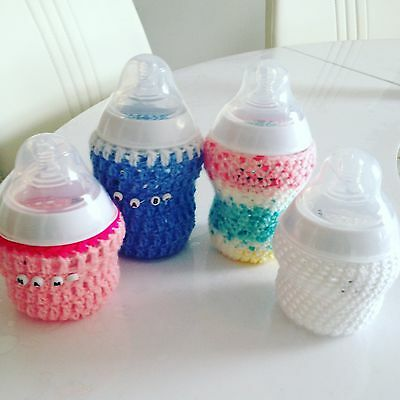One handmade crochet personalised baby bottle cover any size tommee tippee dr br