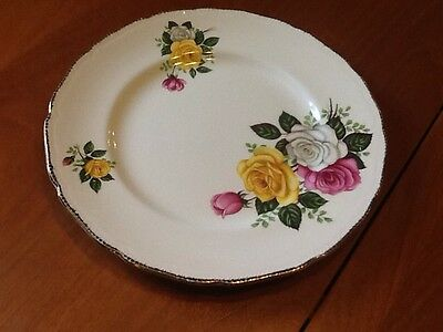Rare Vintage June Bouquet Royal Swan Dinner Plate