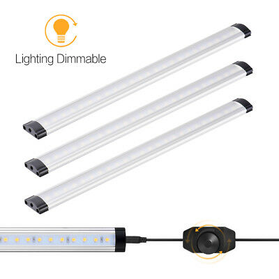 3 Panel LED Under Cabinet Lighting Dimmable Cool White 12W 900 Lumens XC413DEC