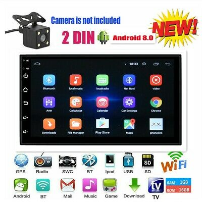 7'' 2DIN 4K Auto Stereo Autoradio GPS Android 8.1 16GB BT FM USB MP5 Player Wifi