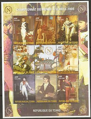 Chad 2009 Napoleon/chess Sheetlet Mnh