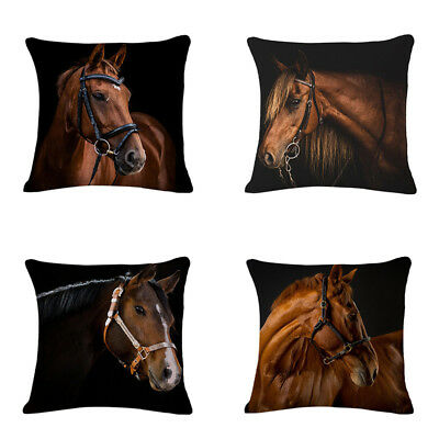 New Creative Animal Horse Pillow Fashion Cartoon Home Decor flax Cushion Pr O6Q8