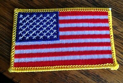 American Flag Applique' Patch Sew / Iron On Excellent Quality