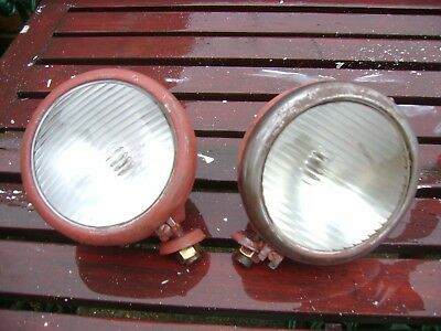 Pair Of Butler Lamps Ideal For David Brown Cropmaster Tractor