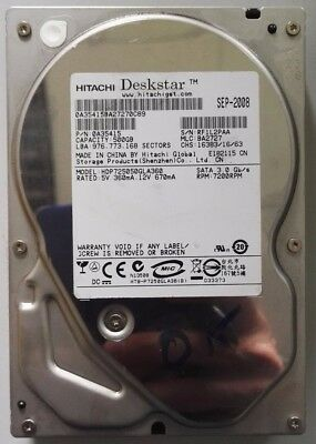 "Hitachi HDP725050GLA360 500GB,Internal,7200 RPM, SATA (3.5"") (0A35415) Desktop"
