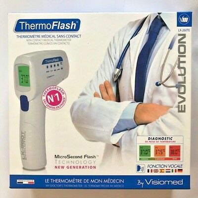 VISIOMED ThermoFlash Contactless Thermometer Digital EVOLUTION LX-260TE
