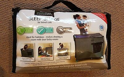EXCELLENT CONDITION. Snooze shade Snoozeshade Travel Cot Blackout Cover