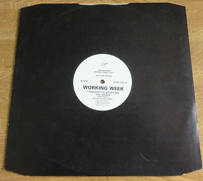 "Working Week, I Thought I'd Never See You Again 12"" promo, Virgin Records"