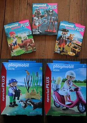 Playmobil Special Plus Pirate 4783,Chevalier 5409, Fille+Chevres 4785, Ange 5411