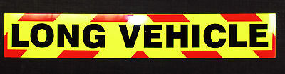 Long Vehicle Fluorescent Magnetic Warning Sign