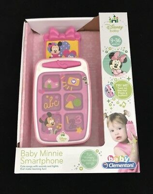 Disney Baby Minnie Mouse Smartphone Pink Educational Phone Mickey Toy Store Gift