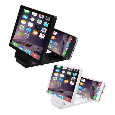 3D Mobile Phone Screen Magnifier HD Video Amplifier for Smart Phones White H0D5