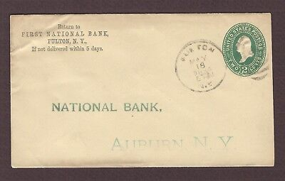 mjstampshobby 1894 US Famous First National Bank Vintage Cover Used (Lot4899)