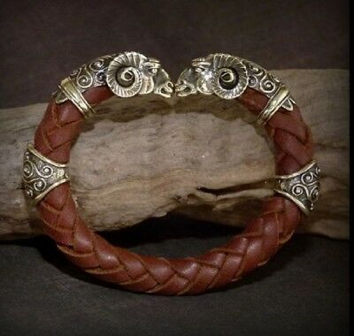 Bracelet Bronze Men/Women Regaliz The Golden Fleec Leather Cord Jewelry