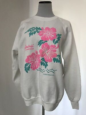 Vtg Hawaii Travel Souvenir Sweatshirt 50/50 Fruit Of The Loom XL