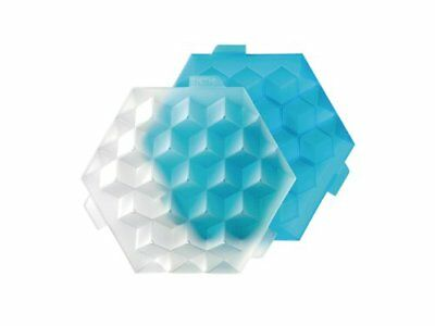 Lékué Ice Cube -Cubitera para cocktail, 19 cubos, color azul