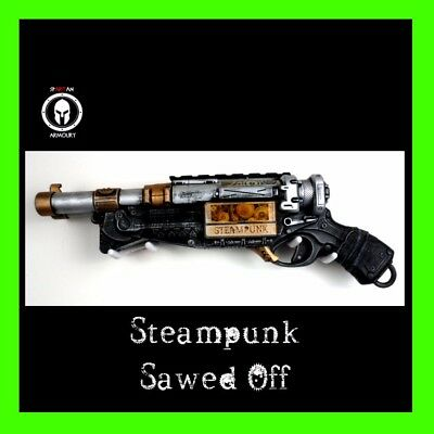Steampunk Inspired Custom Painted Nerf 'Sawed Off' Hand Cannon Cosplay LARP