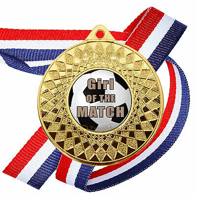 FOOTBALL 50MM X 10 MEDALS, Wide Ribbons not cheap thin ones