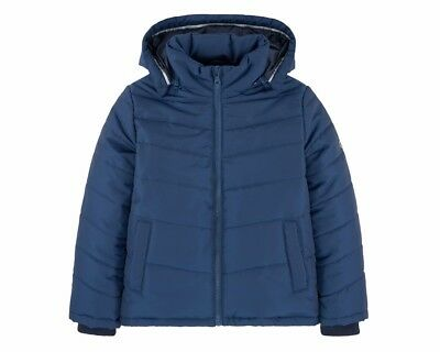 Sale Boys Hugo Boss J26324 804 Puffer Jacket Hooded Blue 4-16 Years